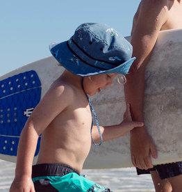 Millymook and Dozer Boys Bucket Sun Hat - Bare Bones - Blue S (2-5y)