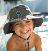 Millymook and Dozer Boys Bucket Sun Hat - Turner - Charcoal - S (2-5y)