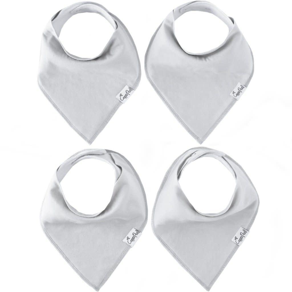 Copper Pearl Bibs - Gray Basics Set - 4 pack