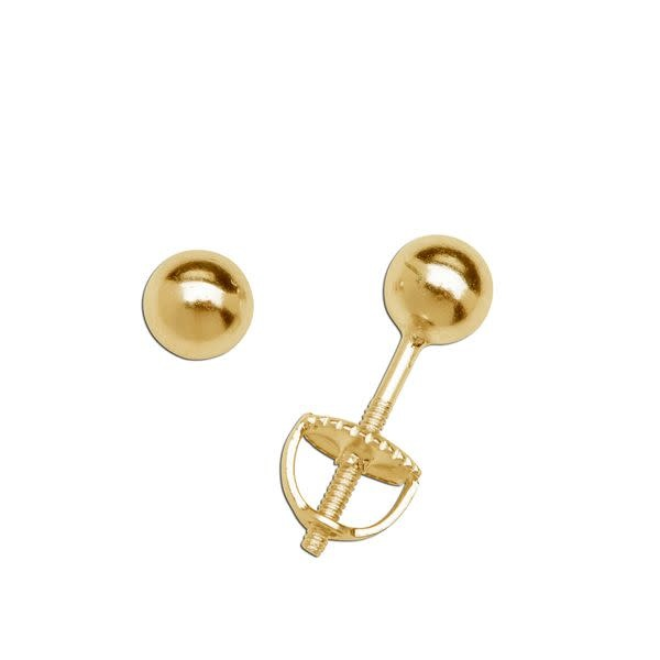Cherished Moments Earrings 14K Gold-Plated 4mm Ball