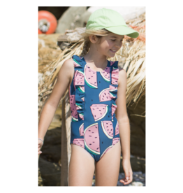 Tea Collection Girls One Piece Swimsuit - Watermelons