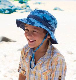 Millymook and Dozer Boys Bucket Sun Hat - Reef Blue L (5y+)