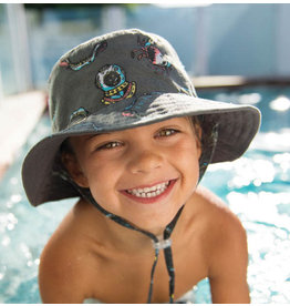 Millymook and Dozer Boys Bucket Sun Hat - Turner - Charcoal - L (5y+)