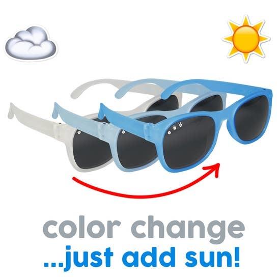 Roshambo Optimus Color-Changing Blue Junior Sunglasses Polarized