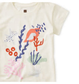 Tea Collection Sea Life Graphic Chalk Tee 6