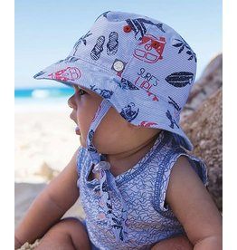 Millymook and Dozer Baby Boys Bucket Sun Hat - Kai Blue L  (12-24m)