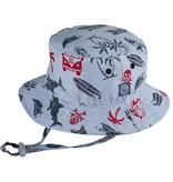 Millymook and Dozer Baby Boys Bucket Sun Hat - Kai Blue L  (12-24m)