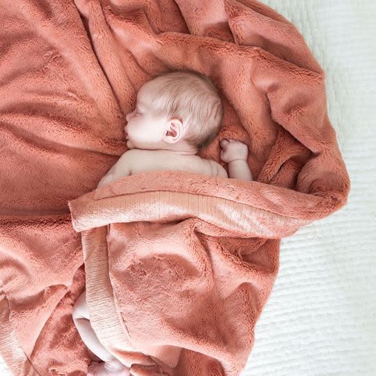 Saranoni Receiving Blanket (30'' x 40'') Clay Lush