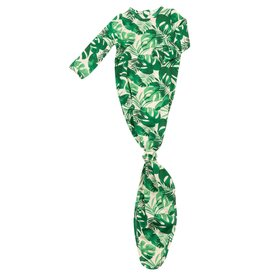 Angel Dear Knotted Gown, Tropical Leaves 0-3M