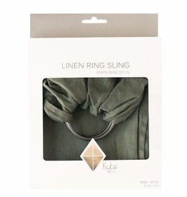 Kyte Baby Ring Sling Evergreen w/ Charcoal Rings