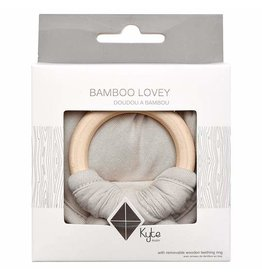 Kyte Baby Lovey in Oat with Removable Wooden Teething Ring