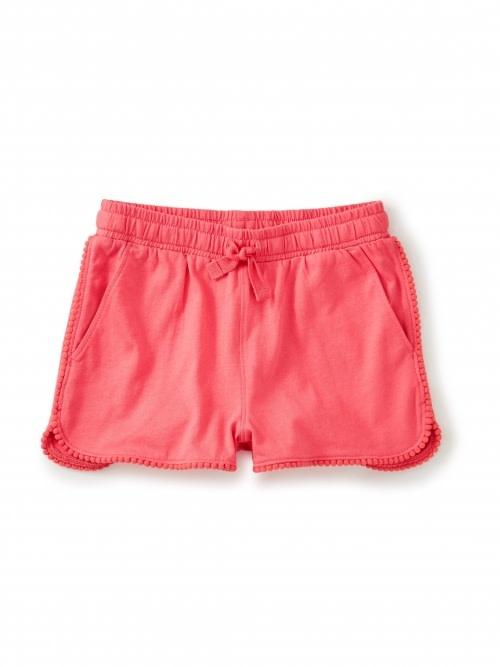 Tea Collection Pom Pom Trim Shorts - Flat Neon Rosa