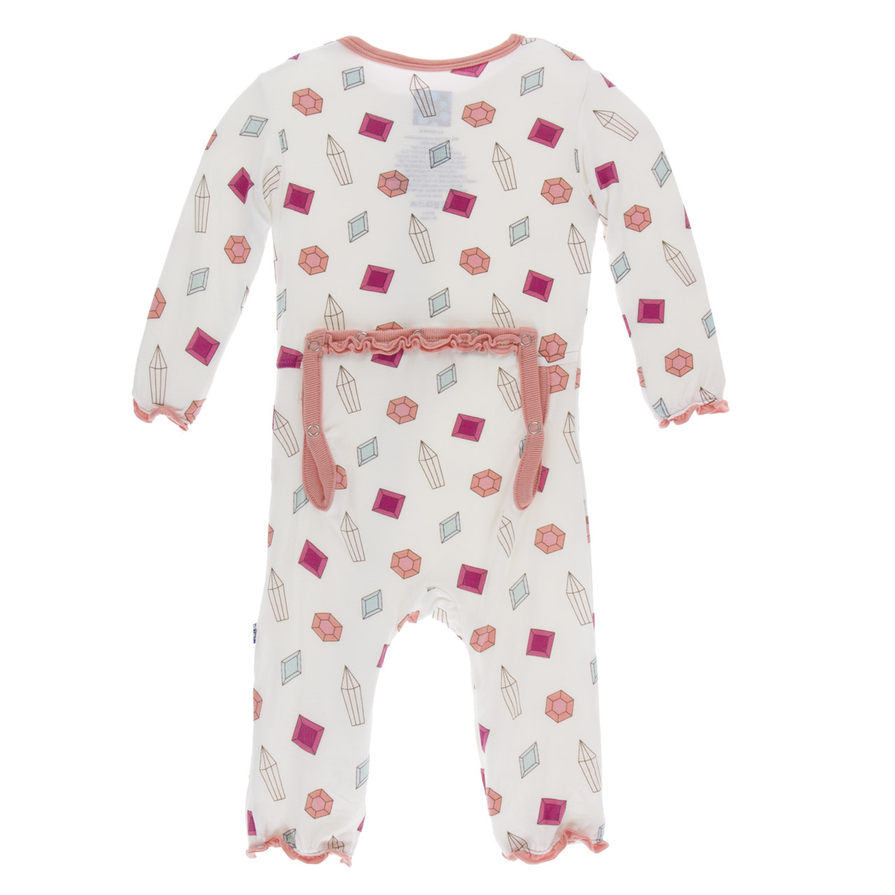Kickee Pants Print Muffin Ruffle Coverall with Snaps Natural Gems 18-24m