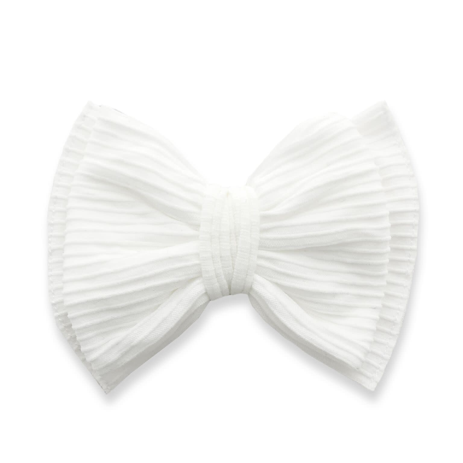 Baby Bling Bows Ribbed Bow Clip : White