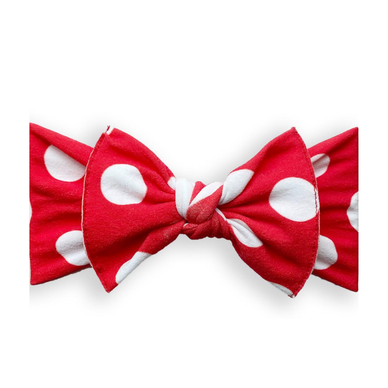 Baby Bling Bows Printed Knot : Red Polka Dot