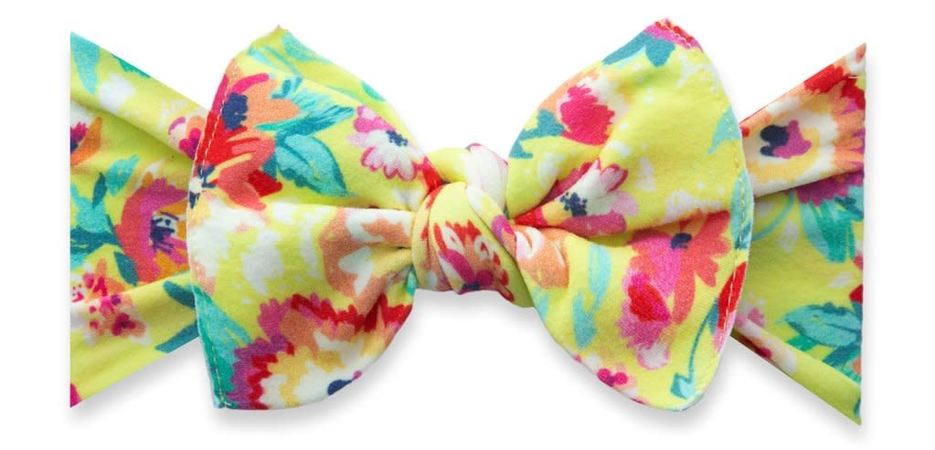 Baby Bling Bows Printed Knot : Bright Botanicals