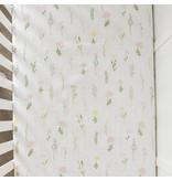 Saranoni Floral Fields Cotton Muslin Crib Sheet