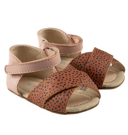 Robeez Riley First Kicks - Clay Dot/Pink Leather