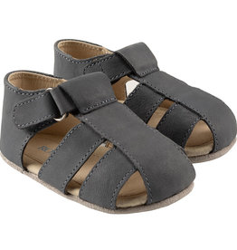Robeez Matthew First Kicks Sandals - Slate Leather