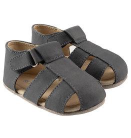 Robeez Matthew First Kicks Sandals - Slate Leather