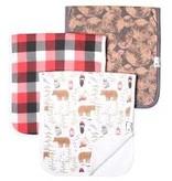 Copper Pearl Burp Cloths (3 pack) - Lumberjack