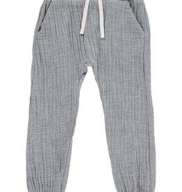 Me + Henry Cotton Tie-Cord Pants, Blue