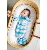 Little Sleepies Knotted Gown Blueberry Plaid