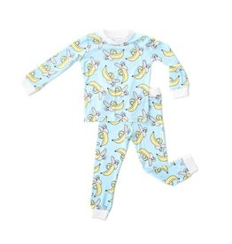 Little Sleepies Two Piece Pajama Set Bananas