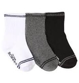 Robeez 3 Pk Socks, Goes With Everything Grey 12-24M