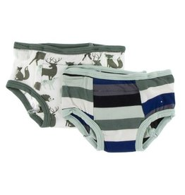 Kickee Pants Training Pants Set Zoology Stripe and Forest  2T-3T