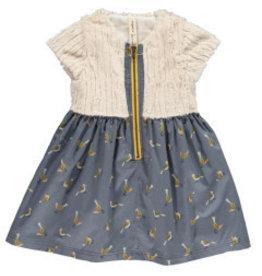 Vignette Faye Fur Top Dress Tweet 18M