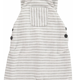 Me + Henry Grey Striped Shortie Overall (106a)