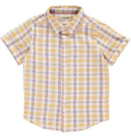Me + Henry 4-5Y Yellow Plaid SS Woven Shirt Last One