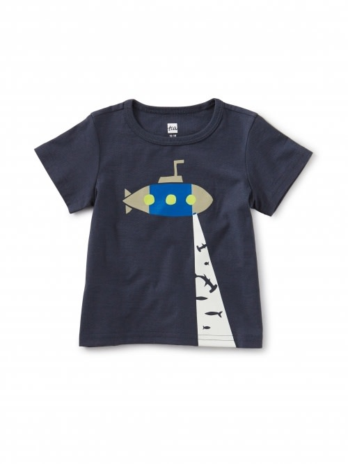 Tea Collection Glow-in-the-Dark Sub Baby Tee - Indigo