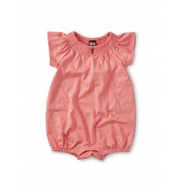 Tea Collection Smocked Romper - Mauveglow Stars