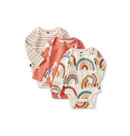 Tea Collection Bodysuit Three-Pack NB - Chalk