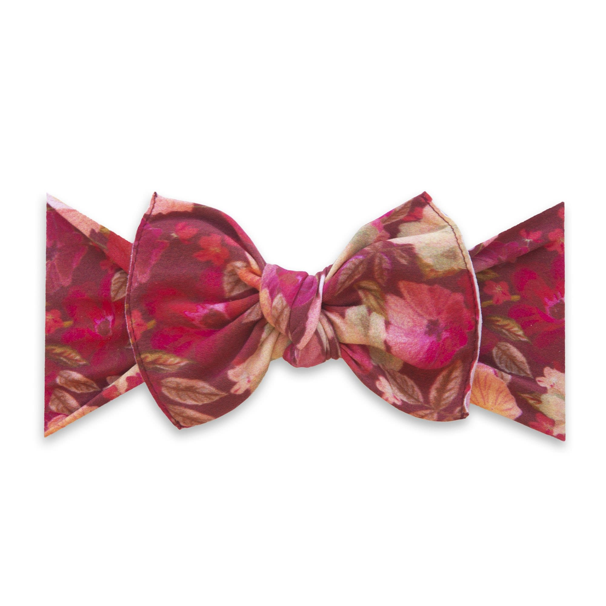 Baby Bling Bows Printed Knot - Burgundy Floral