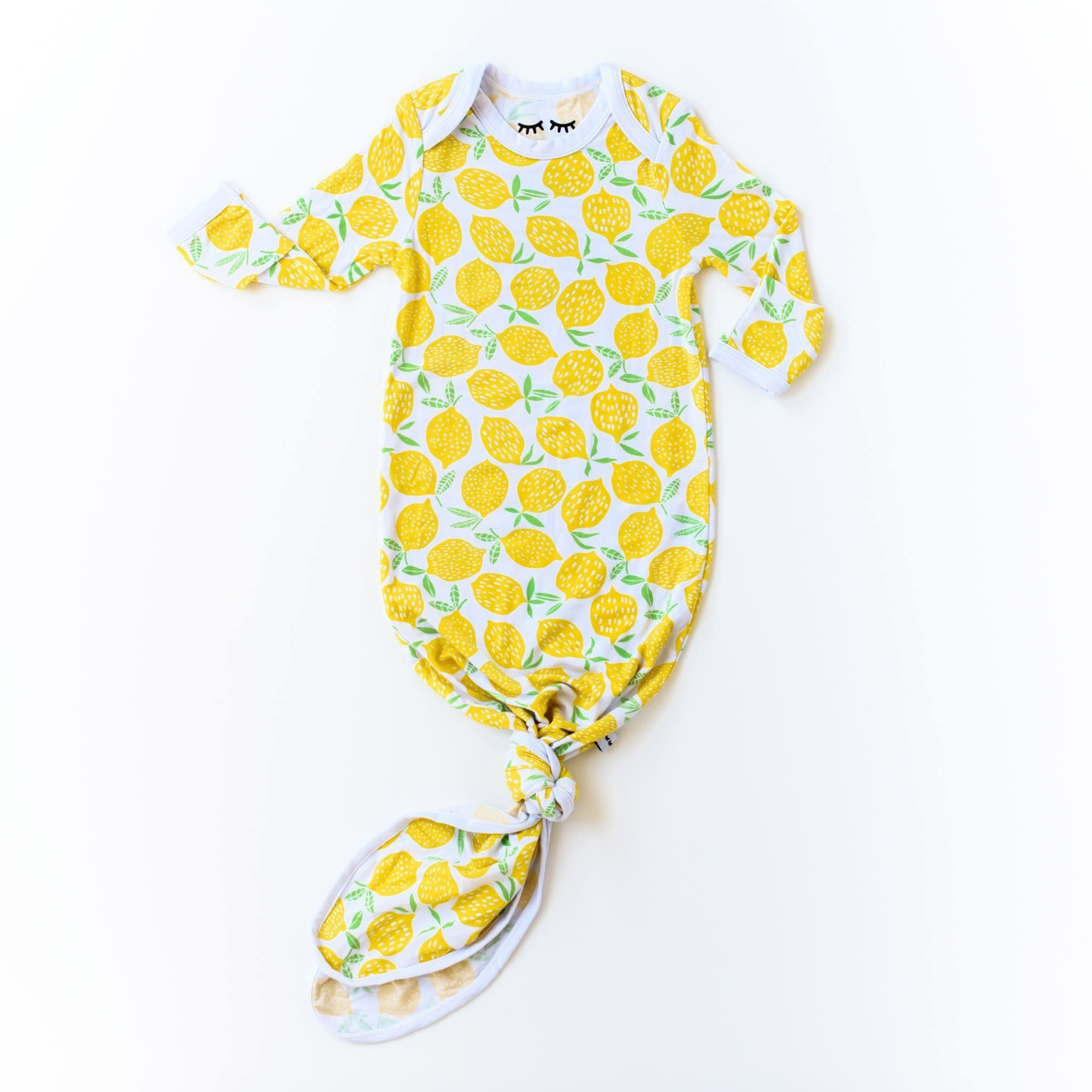 Little Sleepies Knotted Gown Lemon