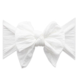 Baby Bling Bows Dang Enormous Bow: White Dot