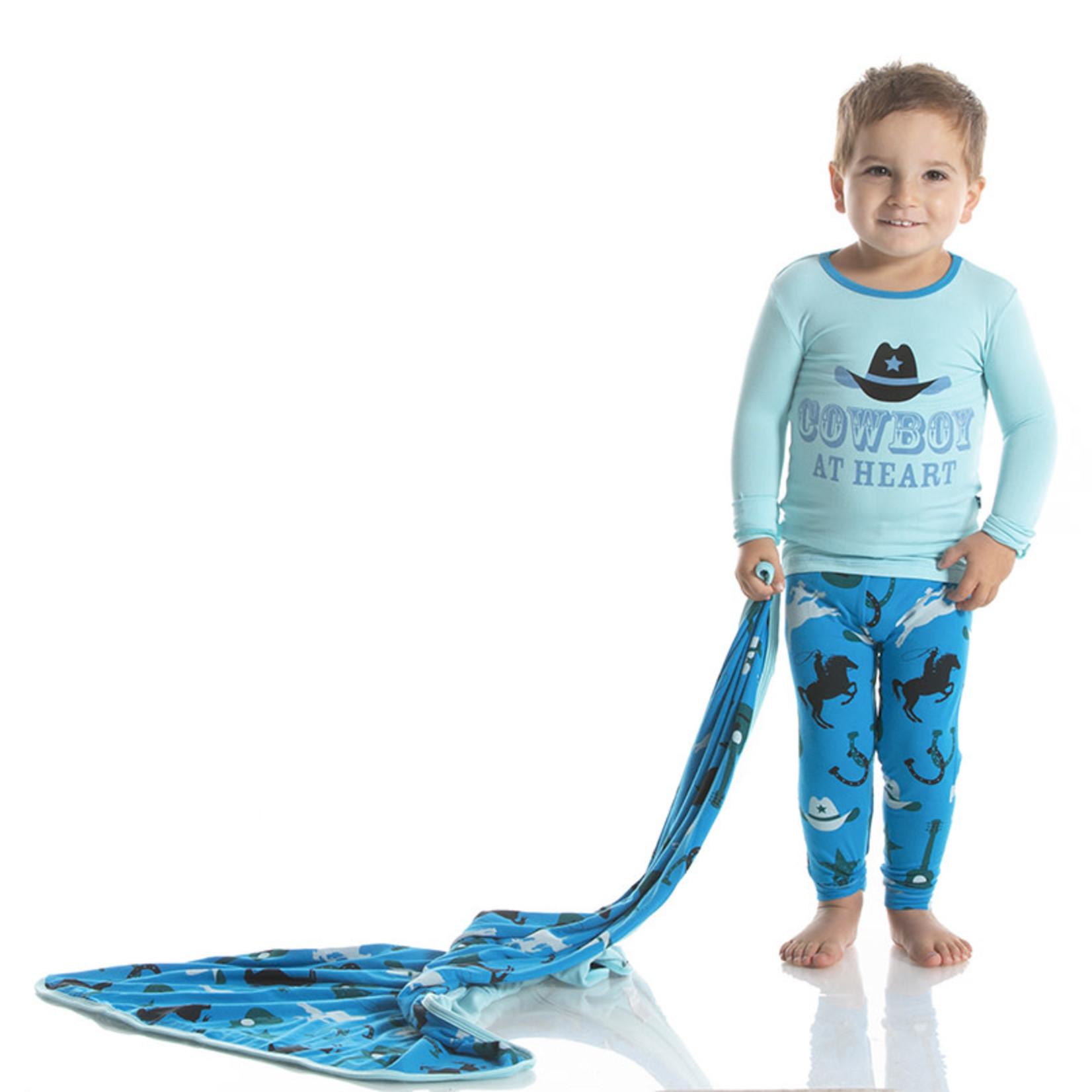 Kickee Pants Amazon Cowboy Long Sleeve Pajama Set