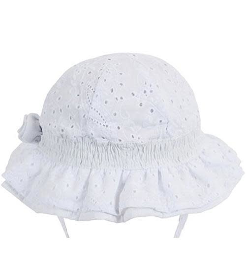 Millymook and Dozer Baby Girls Bell Sun Hat - Agapantha White S (0-12m)