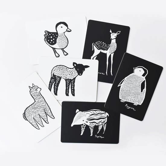 Wee Gallery Art Cards for Baby - Baby Animals Collection