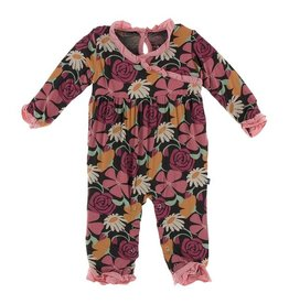 Kickee Pants Kimono Ruffle Romper Zebra Market Flowers
