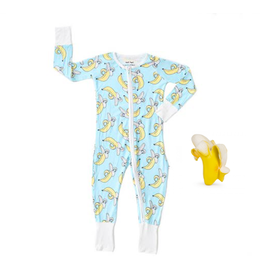 Little Sleepies Banana Romper/Sleeper + Teether 3-6M Gift Set