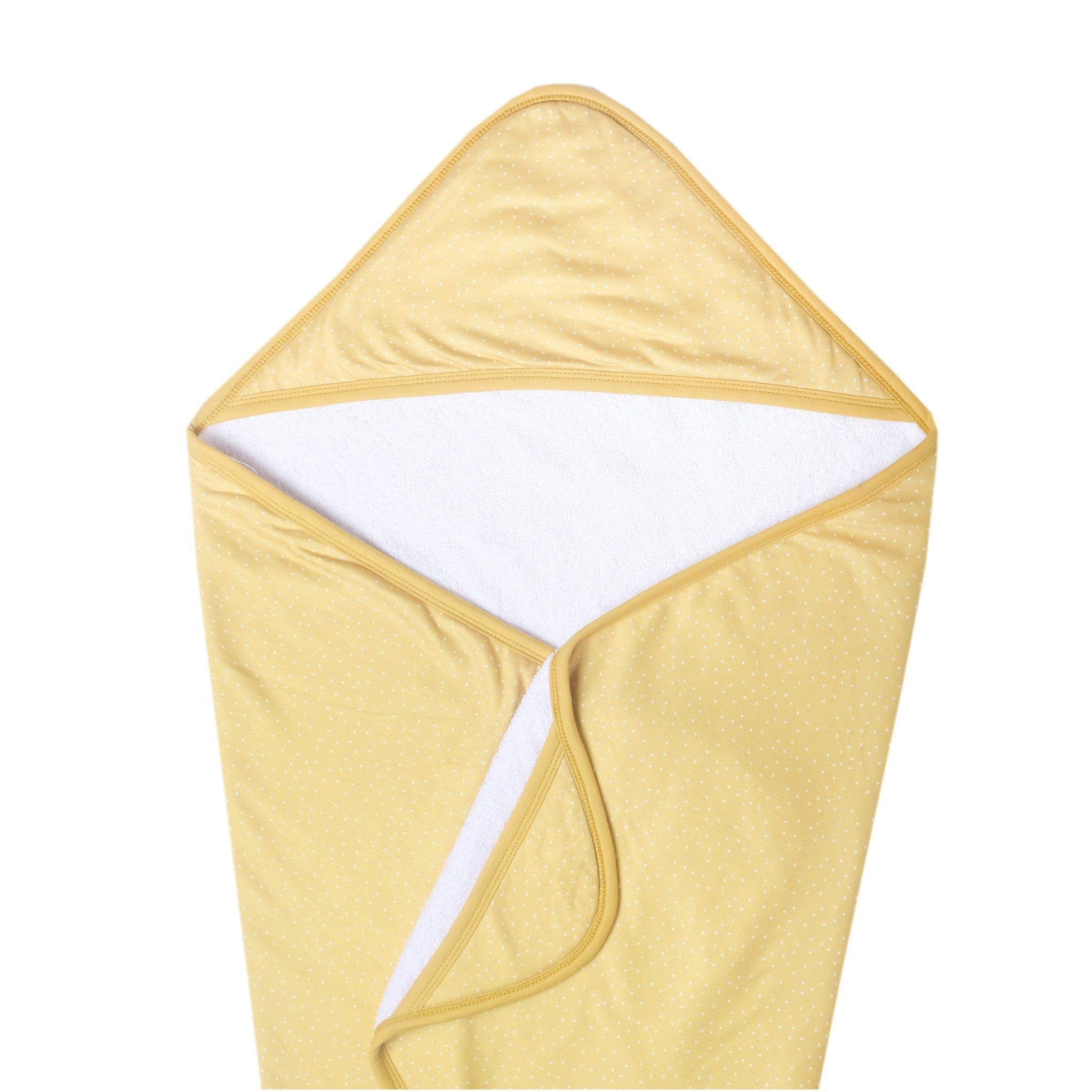 Copper Pearl Knit Hooded Towel - Marigold