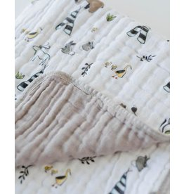 Little Unicorn Cotton Muslin Baby Quilt - Forest Friends