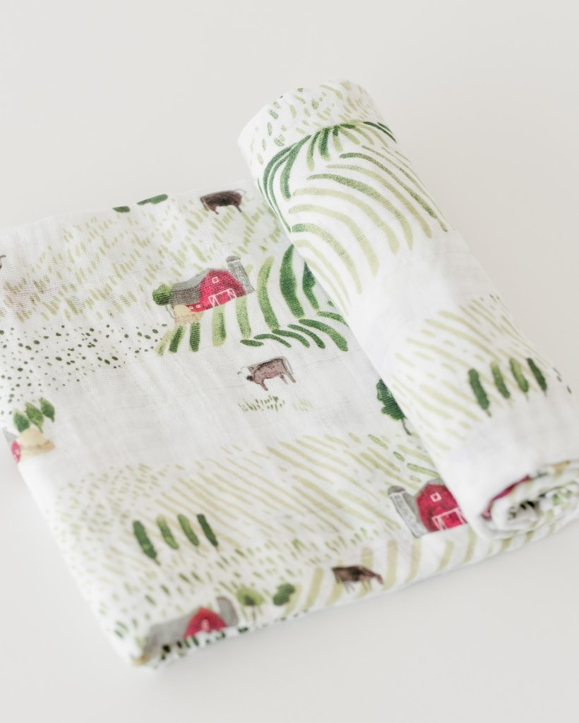 Little Unicorn Cotton Swaddle - Rolling Hills