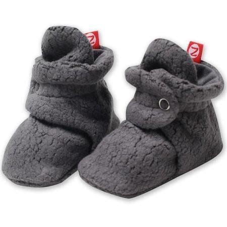 Zutano Cozie Fleece Bootie - Dark Gray