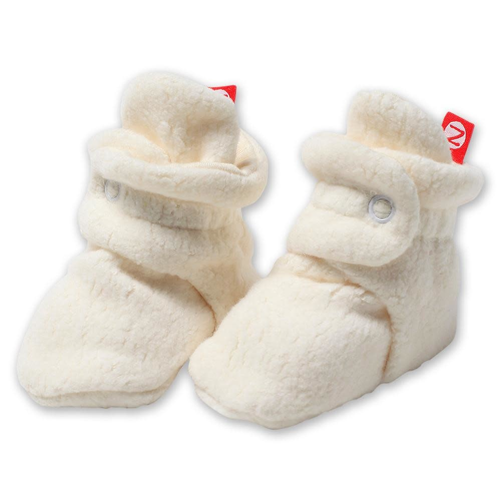 Zutano Cozie Fleece Bootie Cream-6M