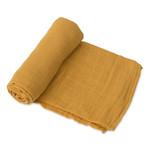 Little Unicorn Cotton Swaddle - Solid Mustard